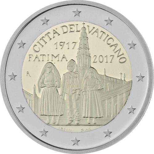 2 Euro Gedenkmünze Vatikan 2017 Pp Erscheinungen Von Fatima