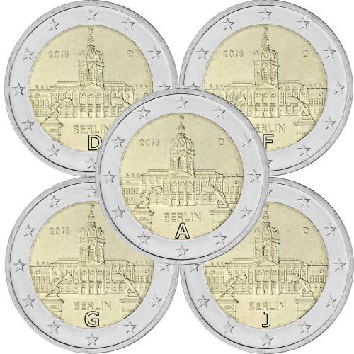 5 X 2 Euro Gedenkmünze Deutschland 2018 Bfr Schloss Charlotte