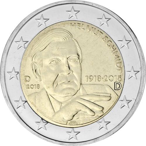 2 Euro Gedenkmünze Deutschland 2018 Bfr Helmut Schmidt D 2