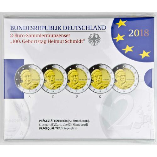 2 euro gedenkm nze deutschland 2018 pp schloss. Black Bedroom Furniture Sets. Home Design Ideas