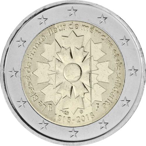 2 Euro Gedenkmünze Frankreich 2018 Bfr Kornblume 395