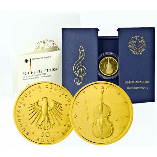 50 Euro Goldmünze Deutschland 2018 Kontrabass Se