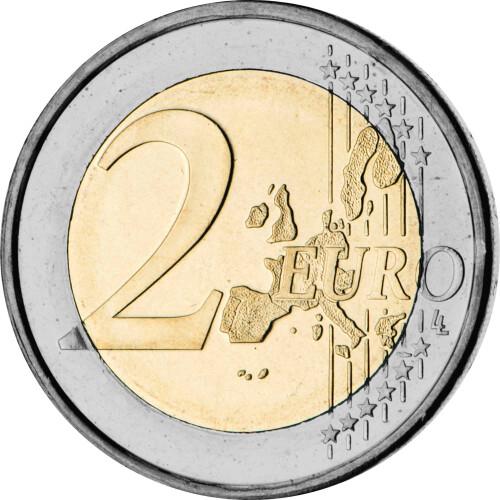 2 Euro Gedenkmünze Belgien 2005 Bfr Wirtschaftsunion 1595