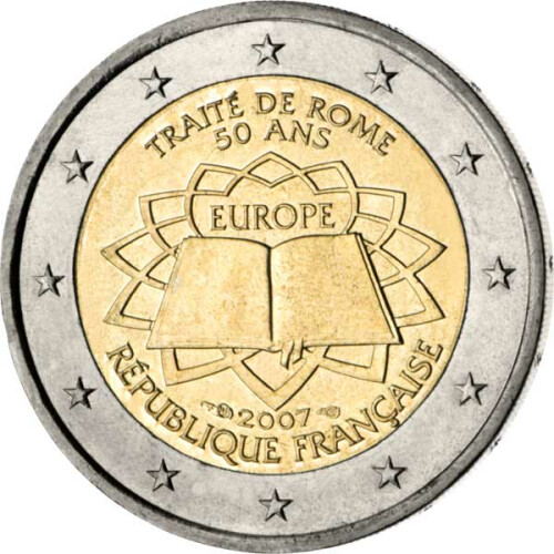 2 Euro Gedenkmünze Frankreich 2007 Bfr Römische Vertrau