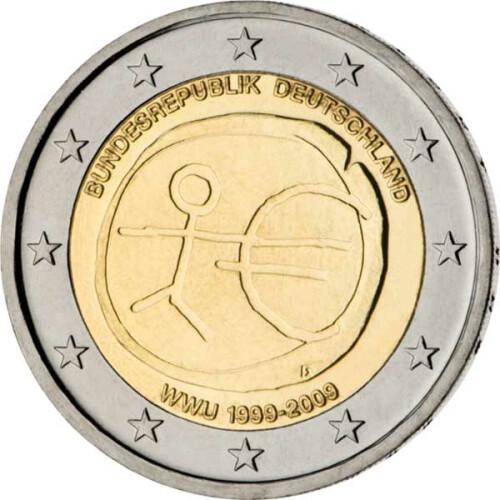 2 Euro Gedenkmünze Deutschland 2009 Bfr 10 Jahre Wwu A 49