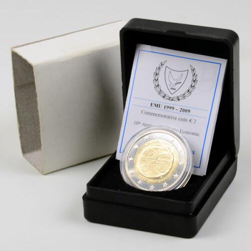 2 Euro Gedenkmünze Zypern 2009 St 10 Jahre Wwu Im Etui 139