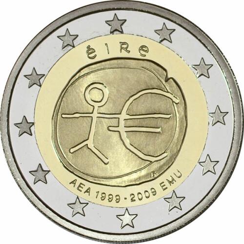 2 Euro Gedenkmünze Irland 2009 Pp 10 Jahre Wwu 4995