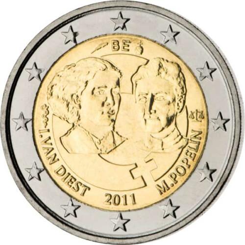 2 Euro Gedenkmünze Belgien 2011 Bfr Weltfrauentag 395 Euro