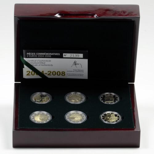 2 Euro Gedenkmünzenset Luxemburg 2004 2008 Pp 39995
