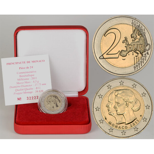 2 euro hochzeit monaco