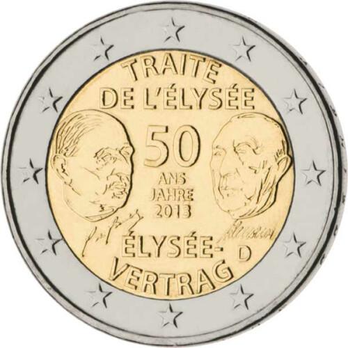 2 Euro Gedenkmünze Deutschland 2013 Bfr élysée