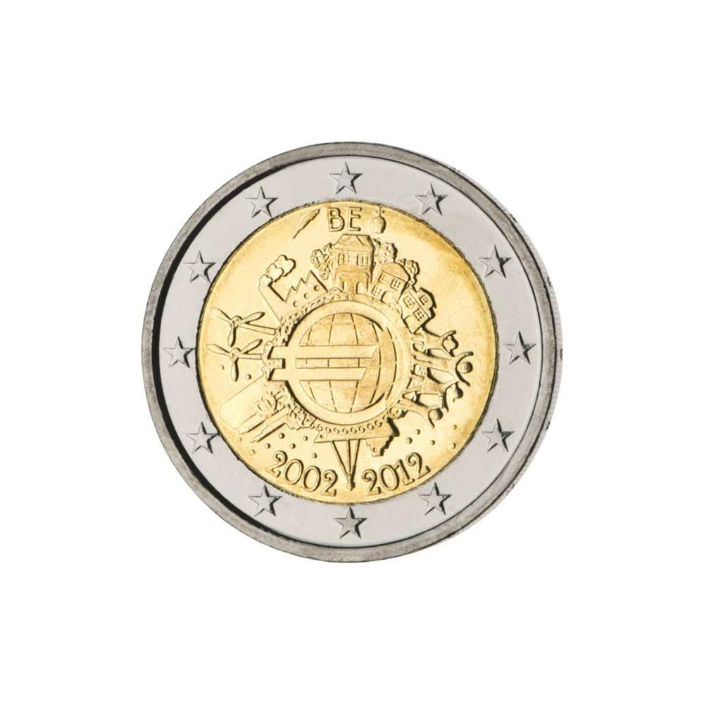 2 /€ Gedenkm/ünze Irland 2012 10 Jahre /€ Bargeld