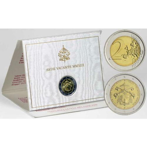 2 Euro Gedenkmünze Vatikan 2013 Sedisvakanz Im Folder 7995