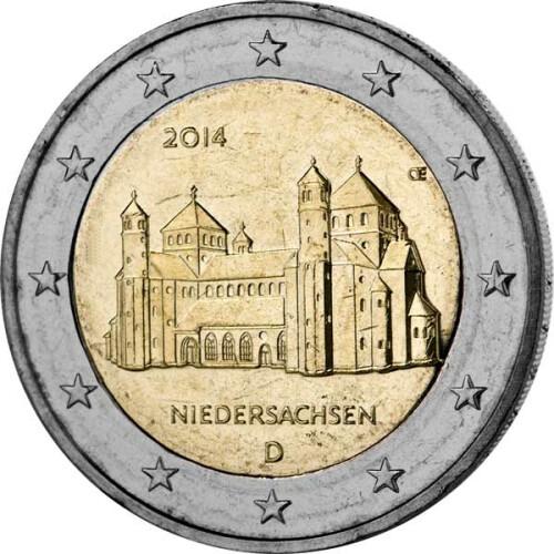 2 Euro Gedenkmünze Deutschland 2014 Bfr Michaeliskirche D