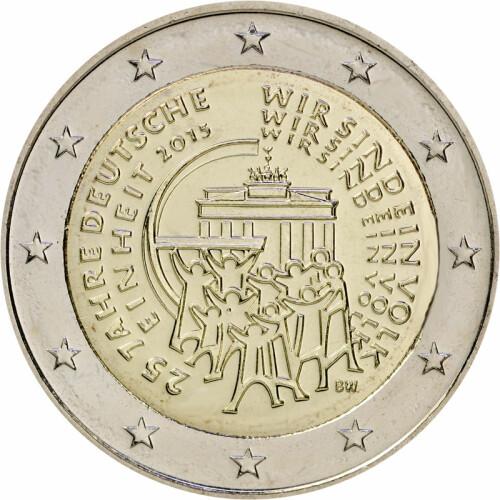 2 Euro Gedenkmünze Deutschland 2015 Bfr 25 Jahre Einheit J