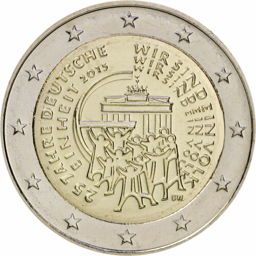 2 Euro Gedenkmünze Deutschland 2015 Bfr 25 Jahre Einheit F