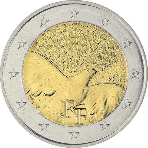 2 Euro Gedenkmünze Frankreich 2015 Bfr 70 Jahre Frieden In Eu
