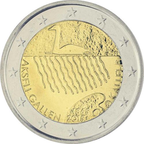 2 Euro Gedenkmünze Finnland 2015 Bfr Akseli Gallen Kallela 4