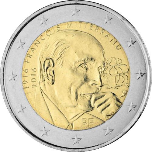 2 Euro Gedenkmünze Frankreich 2016 Bfr Francois Mitterrand 3