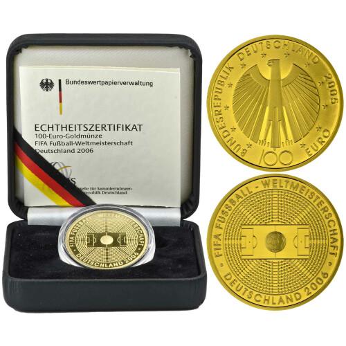 100 Euro Deutschland 2005 Gold St Fußball Wm 2006 65900 Eu