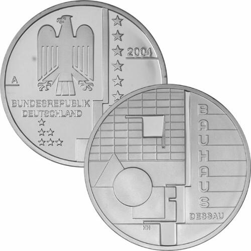 10 Euro Deutschland 2004 Silber Pp Bauhaus Dessau 3200