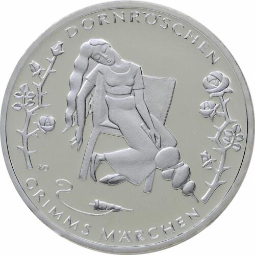 10 Euro Deutschland 2015 Silber Pp Dornröschen 3495